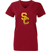 USC Authentic Apparel Youth Girls' USC Trojans Cardinal Comet T-Shirt