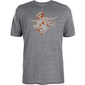 University of Texas Authentic Apparel Men's Texas Longhorns Grey Distressed Angry Bevo Tri-Blend T-Shirt
