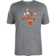 University of Texas Authentic Apparel Men's Texas Longhorns Grey State of Pride Tri-Blend T-Shirt