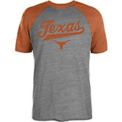 University of Texas Authentic Apparel Men's Texas Longhorns Grey/Burnt Orange Strikezone Raglan Baseball T-Shirt