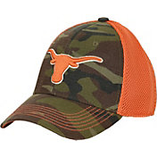 University of Texas Authentic Apparel Men's Texas Longhorns Burnt Orange/Camo Grunt Stretch Fit Hat