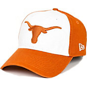 New Era Men's Texas Longhorns White/Burnt Orange 9TWENTY Core Classic Twill Adjustable Hat