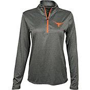 University of Texas Authentic Apparel Women's Texas Longhorns Grey Darcy Quarter-Zip Top