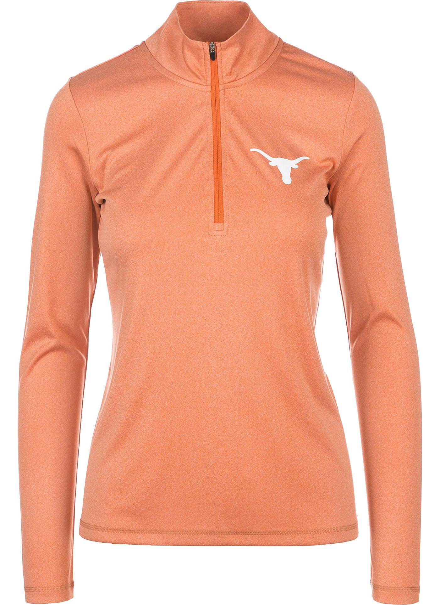 University of Texas Authentic Apparel Women's Texas Longhorns Burnt Orange Darcy Quarter-Zip Top