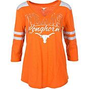 University of Texas Authentic Apparel Women's Texas Longhorns Burnt Orange Mila 3/4 Sleeve V-Neck T-Shirt