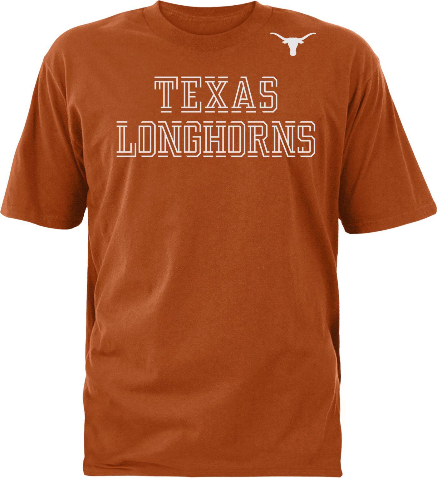 University of Texas Authentic Apparel Youth Texas Longhorns Burnt Orange Double Cut T-Shirt