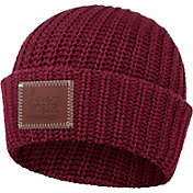 Love Your Melon Women's Burgundy Cuffed Beanie