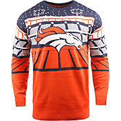 FOCO Men's Denver Broncos Bluetooth Orange Holiday Sweater