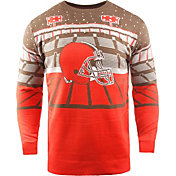 FOCO Men's Cleveland Browns Bluetooth Orange Holiday Sweater