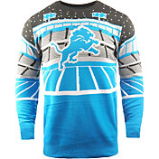 FOCO Men's Detroit Lions Bluetooth Blue Ugly Sweater