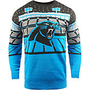 FOCO Men's Carolina Panthers Bluetooth Blue Ugly Sweater