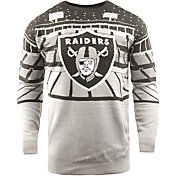 FOCO Men's Oakland Raiders Bluetooth Grey Holiday Sweater