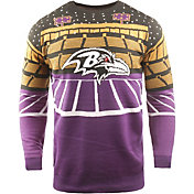 FOCO Men's Baltimore Ravens Bluetooth Purple Ugly Sweater