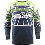 FOCO Men's Seattle Seahawks Bluetooth Navy Ugly Sweater