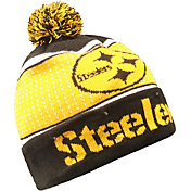 FOCO Men's Pittsburgh Steelers Light Up Pom Knit