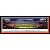 Blakeway Panoramas 2018 National Champions Clemson Tigers Framed Panorama Poster