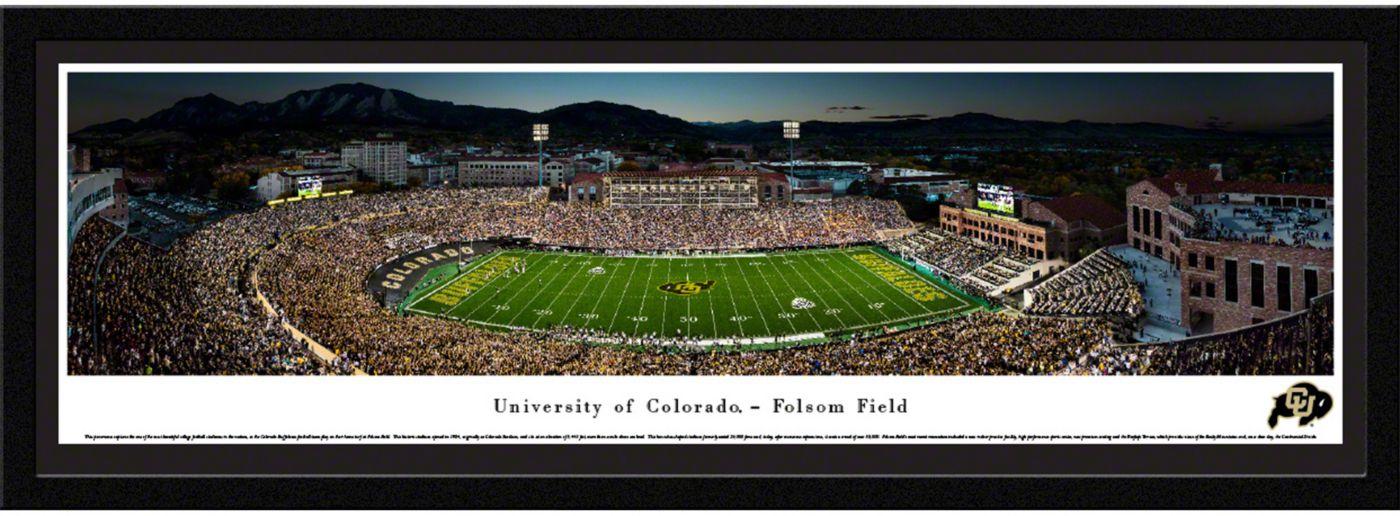 Blakeway Panoramas Colorado Buffaloes Framed Panorama Poster