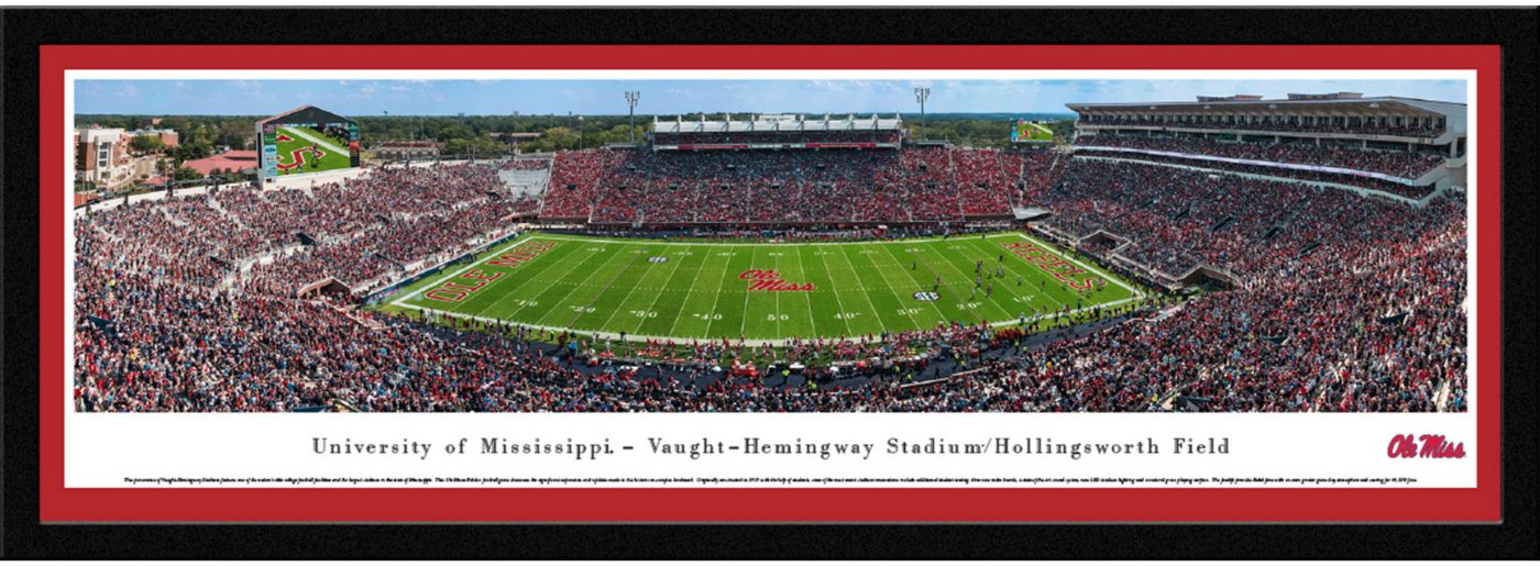 Blakeway Panoramas Ole Miss Rebels Framed Panorama Poster