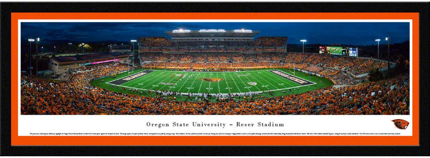 Blakeway Panoramas Oregon State Beavers Framed Panorama Poster