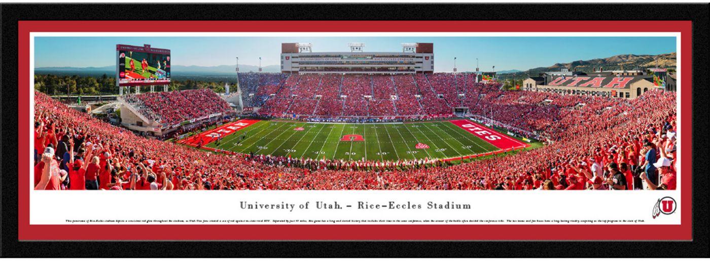 Blakeway Panoramas Utah Utes Framed Panorama Poster