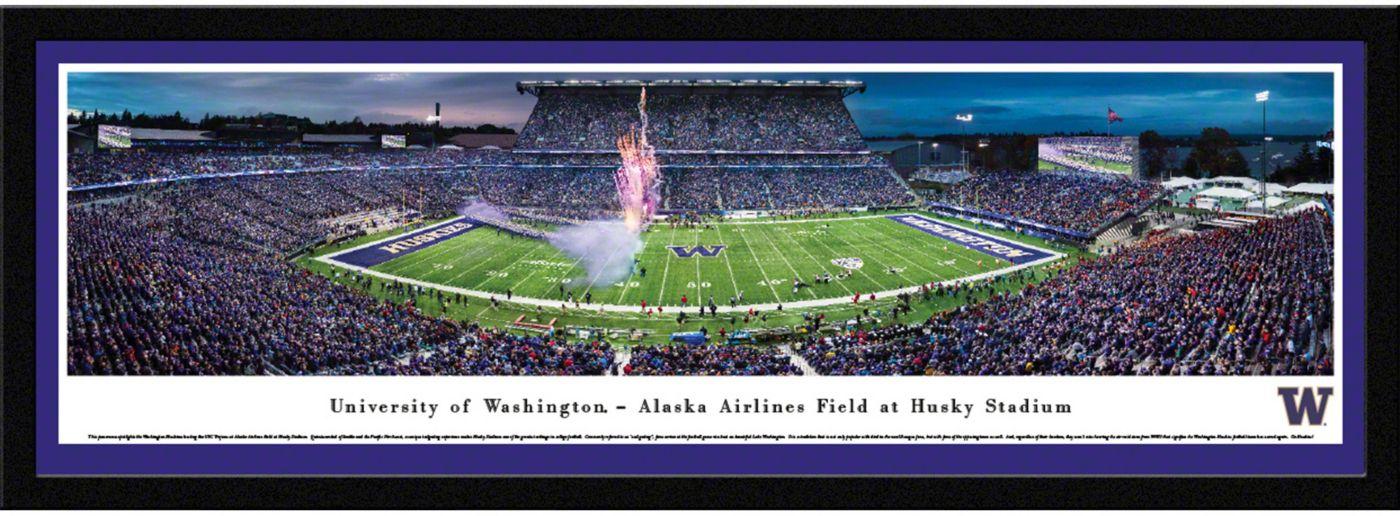 Blakeway Panoramas Washington Huskies Framed Panorama Poster