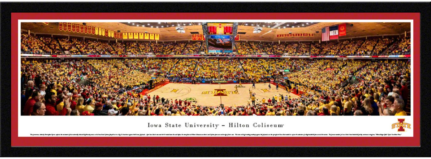 Blakeway Panoramas Iowa State Cyclones Framed Panorama Poster