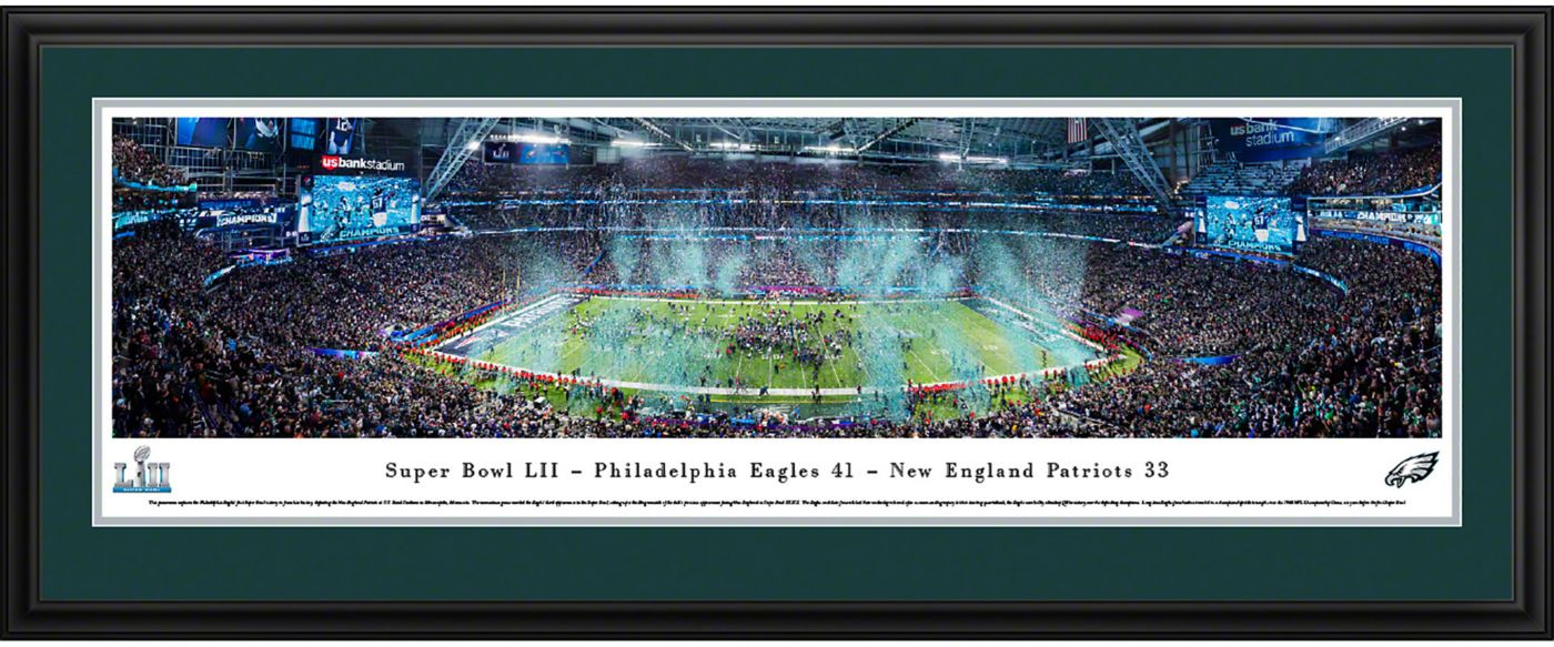 Blakeway Panoramas Super Bowl LII Champions Philadelphia Eagles Deluxe Framed Panorama Poster