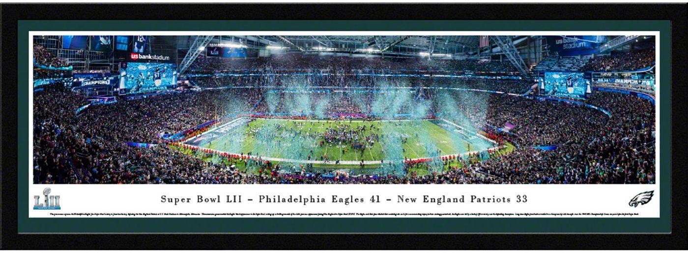 Blakeway Panoramas Super Bowl LII Champions Philadelphia Eagles Select Framed Panorama Poster