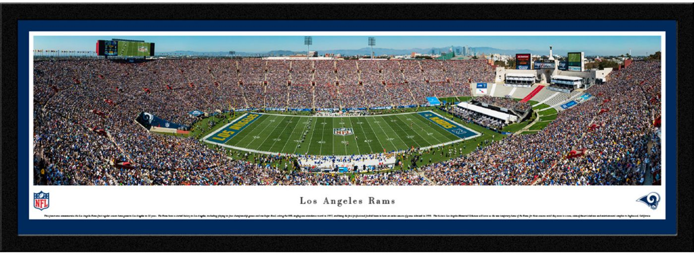 Blakeway Panoramas Los Angeles Rams Framed Panorama Poster