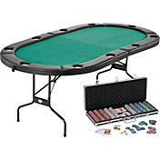 Fat Cat Texas Hold'Em Table and Poker Chip Set