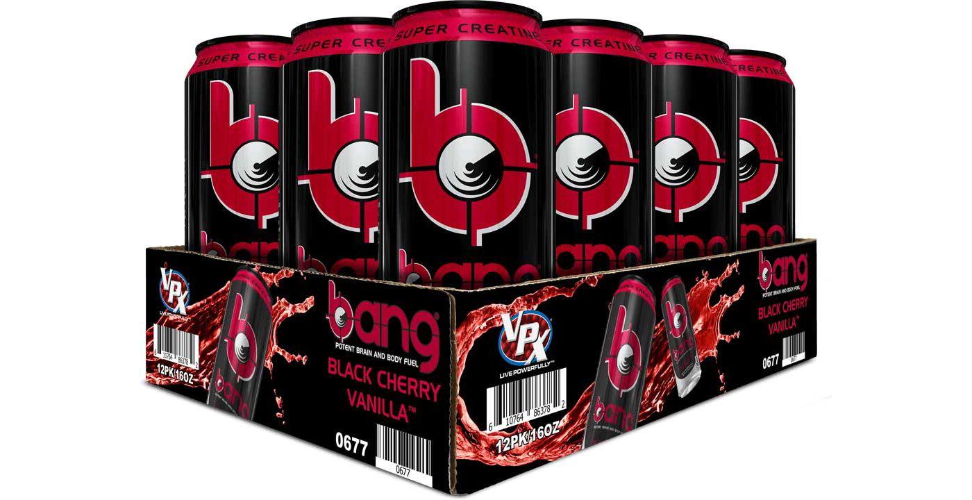 Bang Super Creatine Energy Drink Black Cherry Vanilla 12-Pack Case