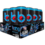 Bang Super Creatine Energy Drink Blue Razz 12-Pack Case