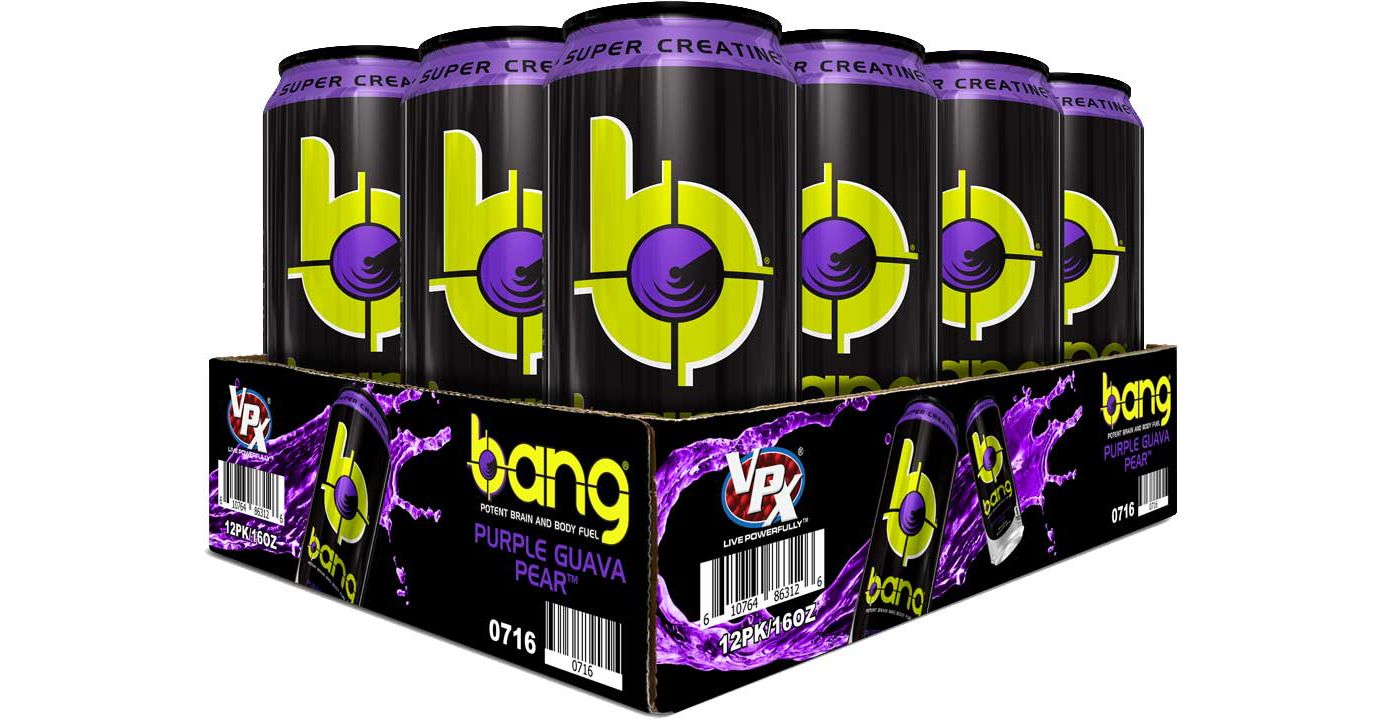 Bang Super Creatine Energy Drink Purple Guava Pear 12-Pack Case