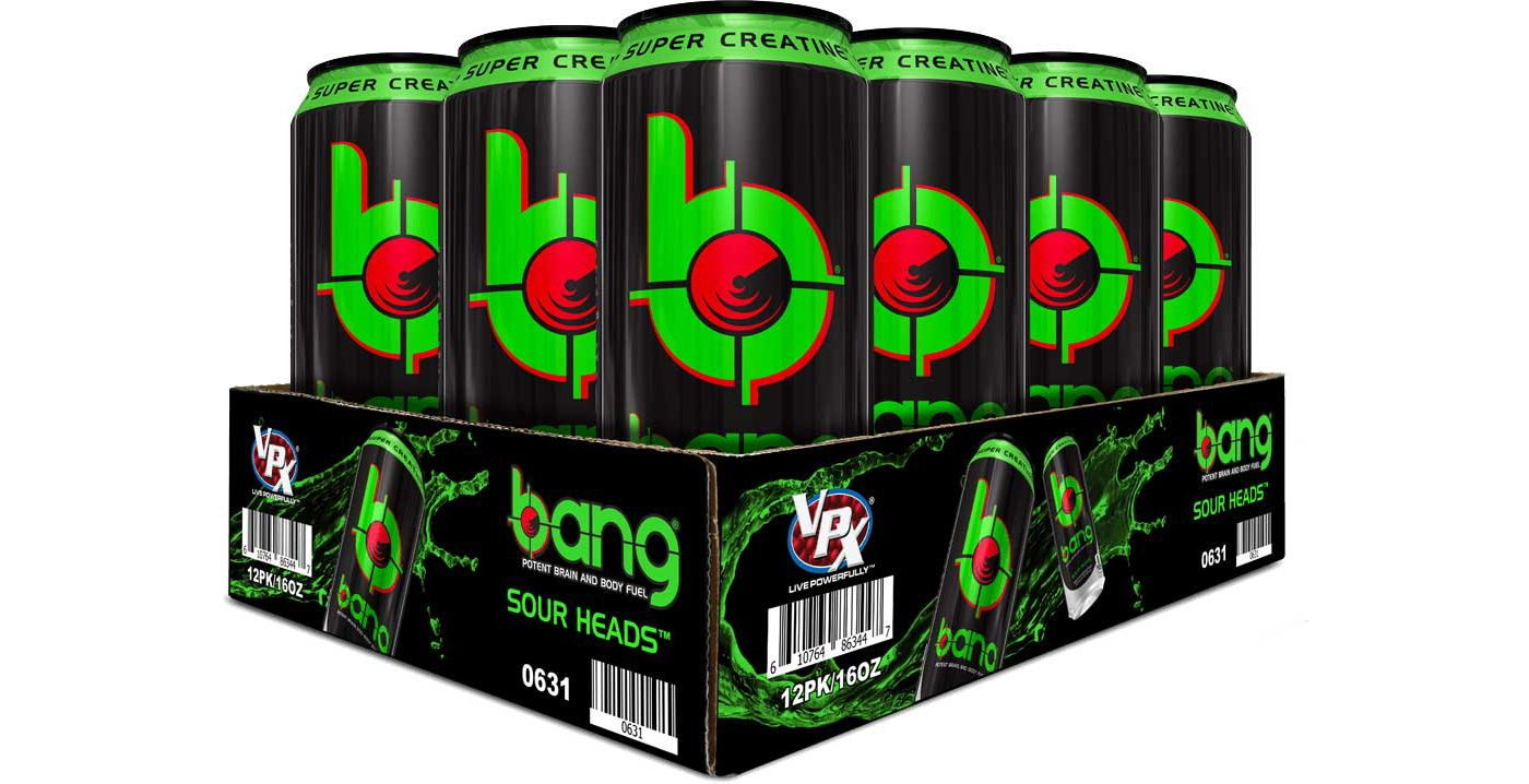 Bang Super Creatine Energy Drink Sour Heads 12-Pack Case