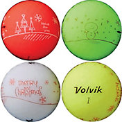 Volvik 2018 VIVID Matte Holiday Edition Golf Balls – 4 Pack