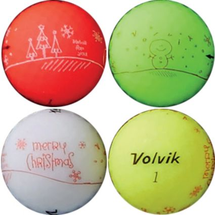 Volvik 2018 VIVID Matte Holiday Edition Golf Balls – 4 Pack