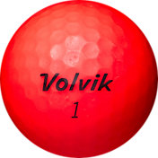 Volvik 2018 VIVID Matte Red Personalized Golf Balls