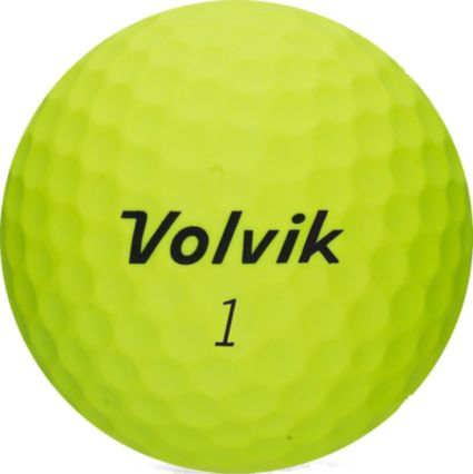 Volvik 2018 VIVID Soft Matte Yellow Personalized Golf Balls