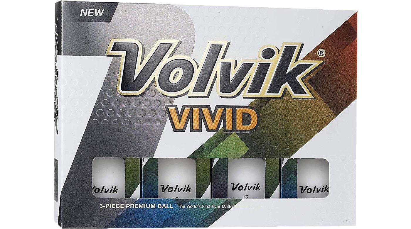 Volvik 2018 VIVID Matte White Personalized Golf Balls