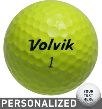 Volvik DS 55 Yellow Personalized Golf Balls