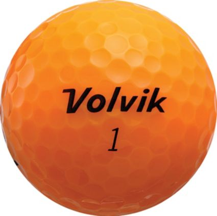 Volvik S3 Orange Personalized Golf Balls