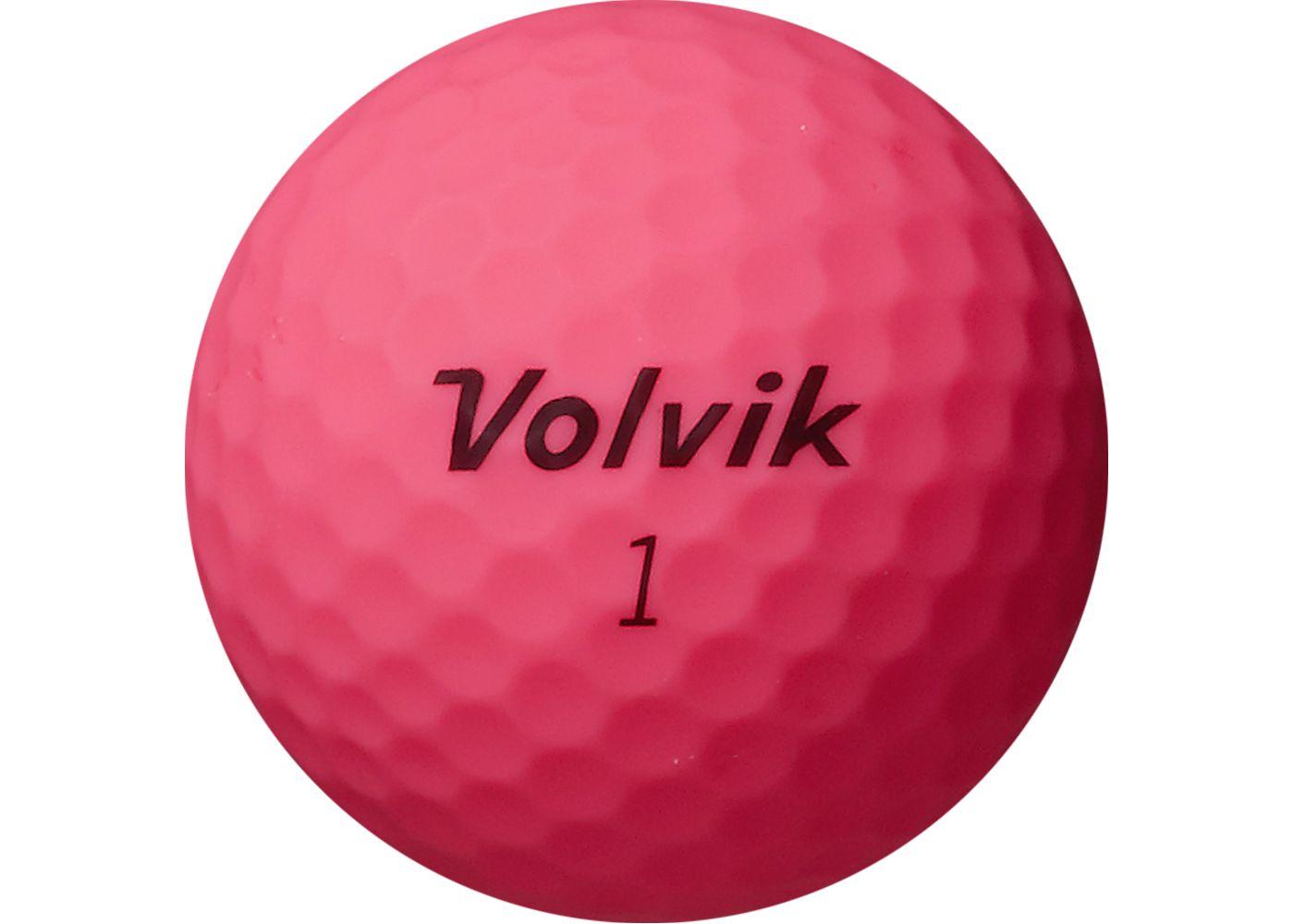Volvik Vivid XT Matte Pink Golf Balls