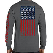 Winchester Men's Rifle Holes Flag Graphic Long Sleeve Shirt