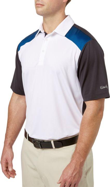 Walter Hagen Men's Colorblock Shoulder Print Golf Polo