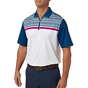 Walter Hagen Men's Diamond Chest Print Golf Polo