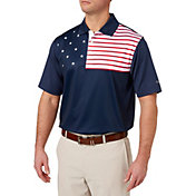 Walter Hagen Men's USA Flag Golf Polo