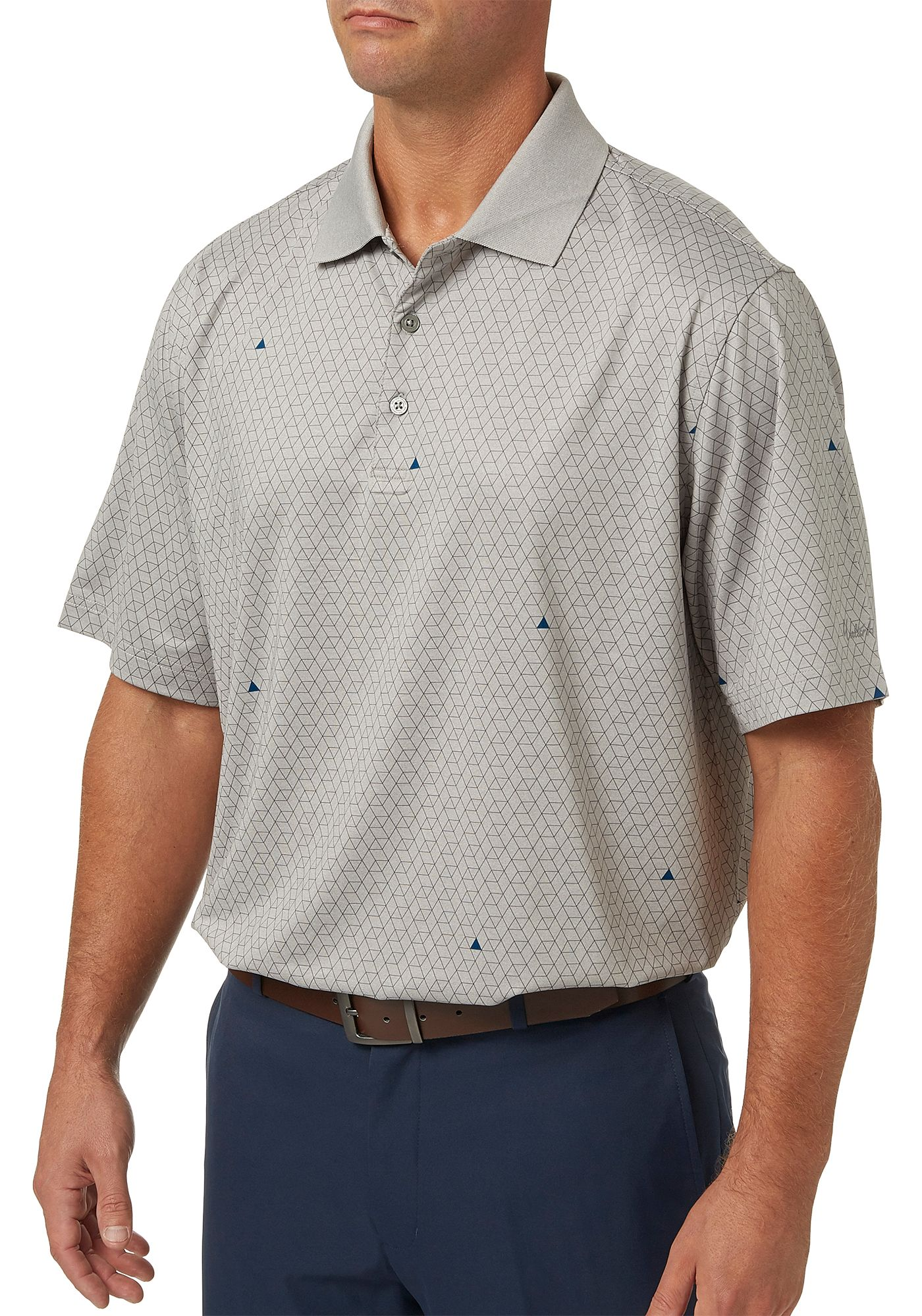 Walter Hagen Men's Geometric Printed Golf Polo