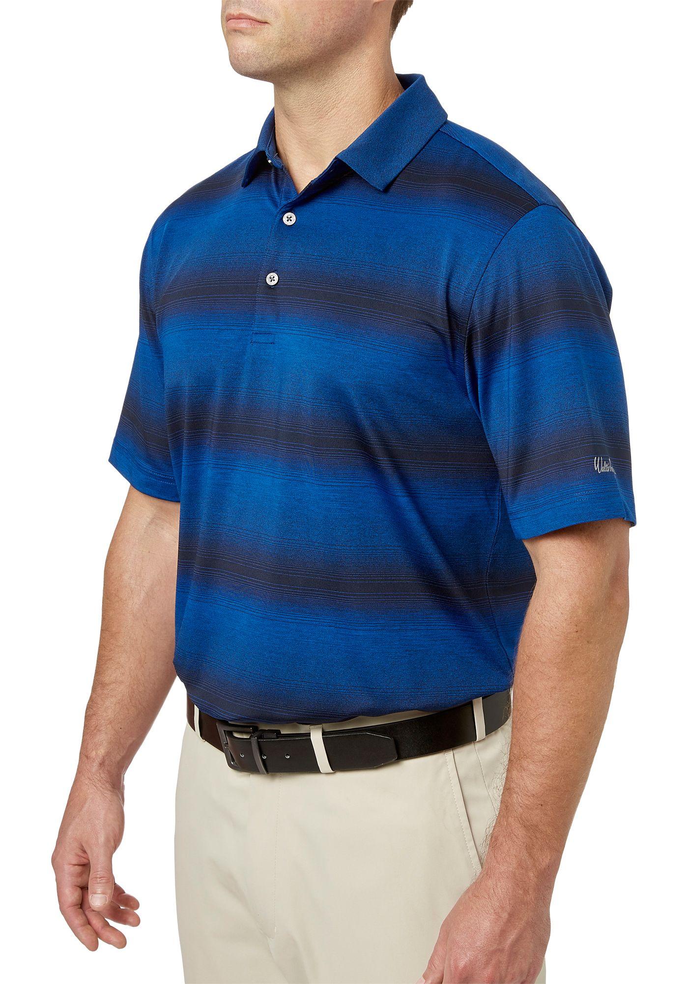 Walter Hagen Men's Gradient Wide Stripe Golf Polo