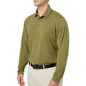 Walter Hagen Men's Long Sleeve Heather Golf Polo
