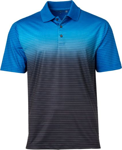Walter Hagen Men's Ombre Fine Line Stripe Golf Polo